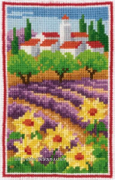 Lavender Field Cross Stitch Kit
